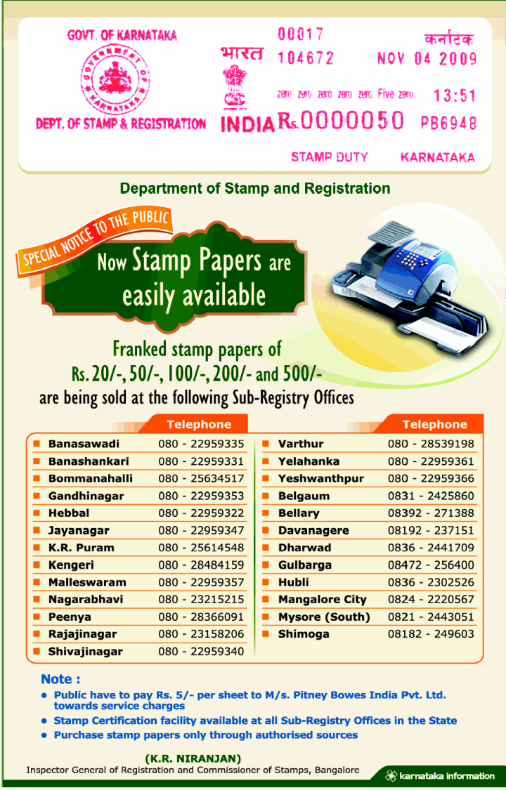 Where Do I Buy Stamp Papers In Bangalore Bengaluru Trying To