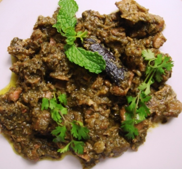 spicy mint pepper mutton andhra curry